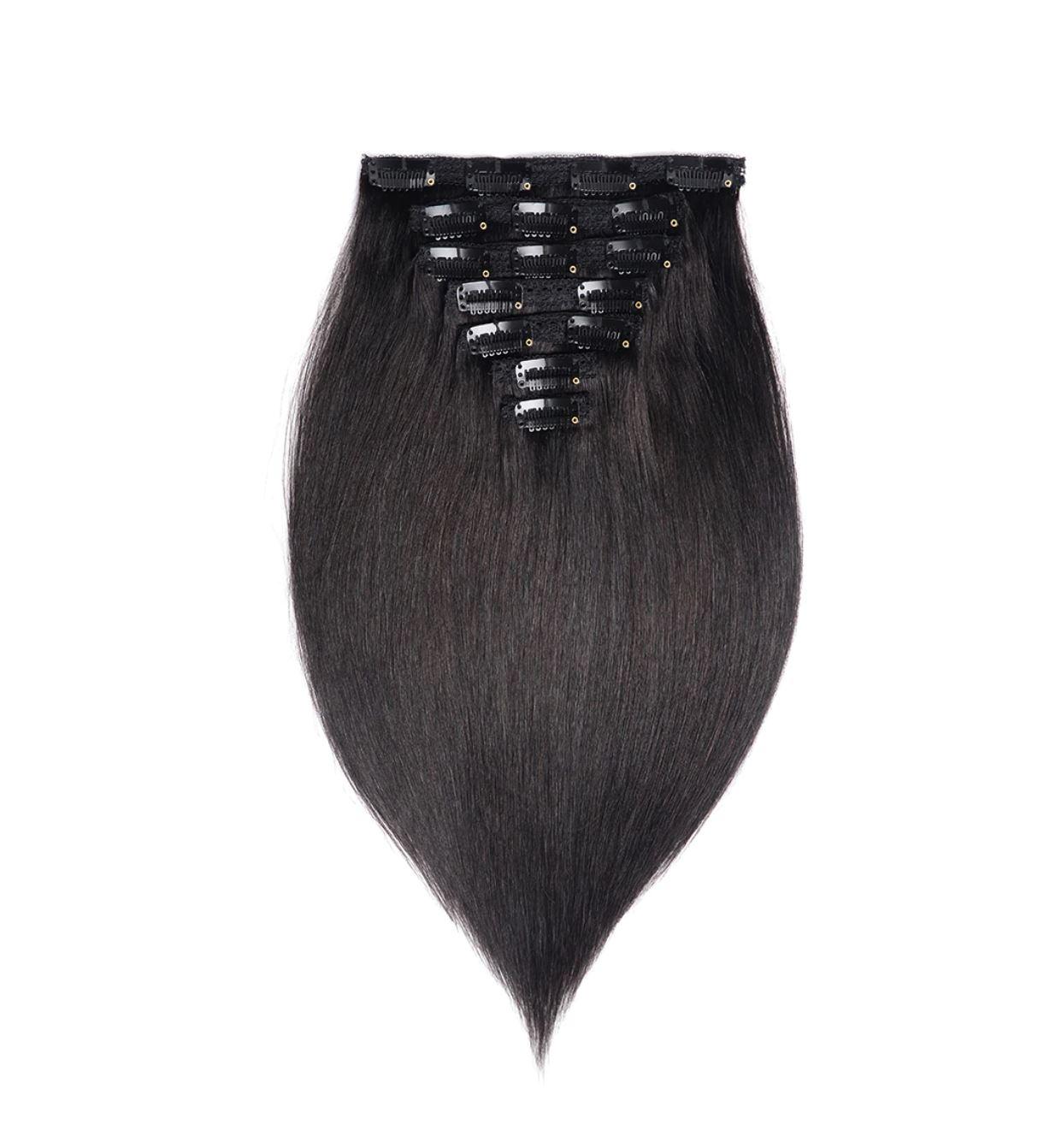 Clip-on sæt hårforlængelsesmetode